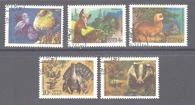 Russia 1975 Wild Animals cancelled to order  set 5  stamps.