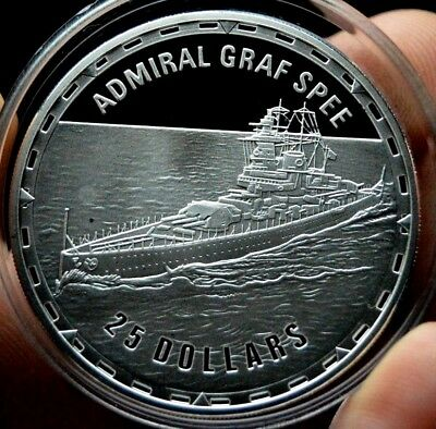 Admiral Graf Spee Silver Proof Legendary Ship Collection Royal Mint Troy Oz Coin