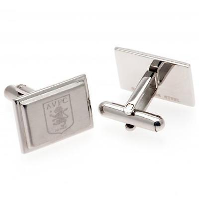 Aston Villa Stainless Steel Cufflinks Gift Boxed New Official Licensed Product