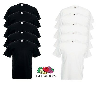 Fruit Of The Loom Plain White Cotton Valueweight T Shirts Wholesale Lot 10 Pack