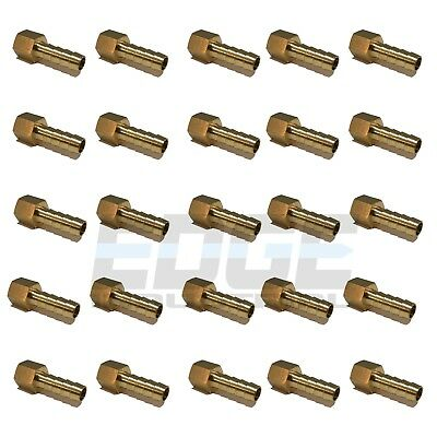 (25 Pack) 5/16 HOSE BARB X 1/4 FEMALE NPT Brass Pipe Fitting Gas Fuel Water Air