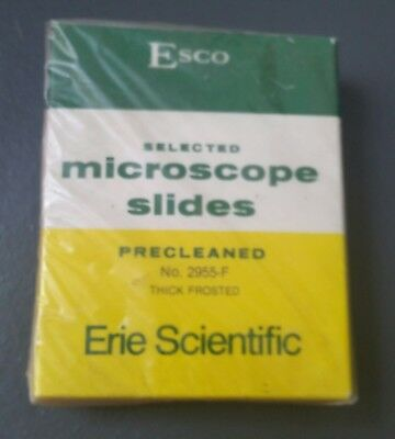 """ESCO 2955-F SELECTED MICROSCOPE SLIDES PRECLEANED THICK  FROSTED 3"""" x 1"""""""