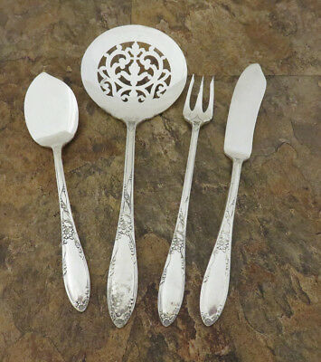 Oneida Chateau 4 Serving Pieces Tomato Server Fork Heirloom Silverplate Lot M