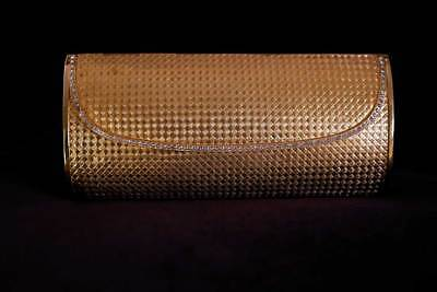 Vintage Gilt Weave and Jewel-Edged Rosenfeld Clutch Purse 1960s - Exquisite!