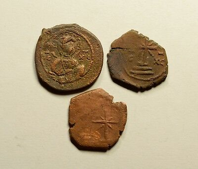 AE Tetarteron - LOT OF 3 - ANCIENT BYZANTINE COINS