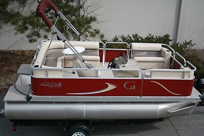 New 16 Ft pontoon boat with 25 hp motor and trailer
