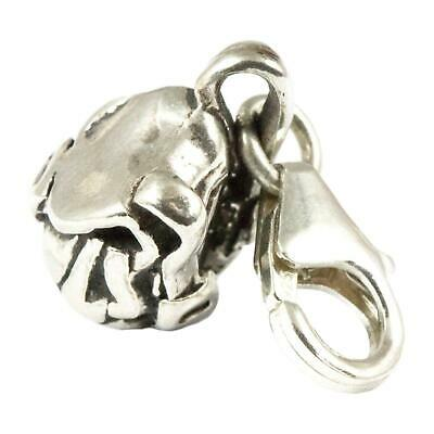 Sterling Silver Backpack Clip On Charm - Soldered On Clasp