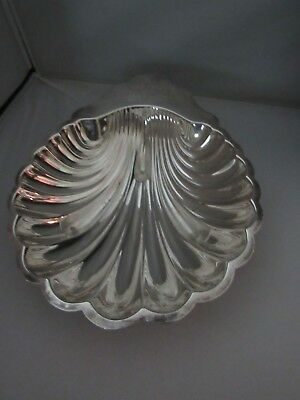 International Silver Large Silver Plate Clamshell Bowl