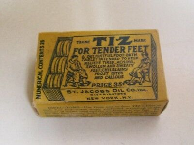 TIZ Tablet's for Tender Feet, Content, Nice Condition, Made In NY, NY.