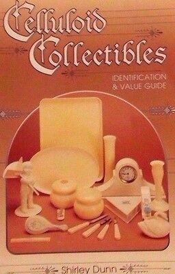 CELLULOID PRICE GUIDE COLLECTORS REFERENCE BOOK Desk Sets Clock Tray Fans ++