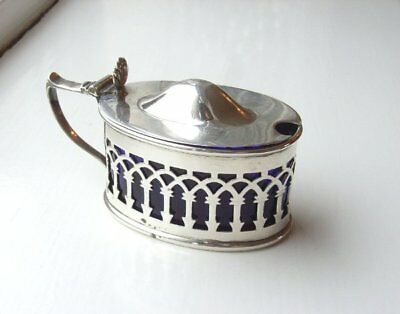 Antique Asprey Hallmarked Chester 1916 Stokes And Ireland Silver Mustard Pot