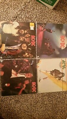 AC DC  original 1970s LP Record Lot 4 vinyl rock and roll Personal Collection