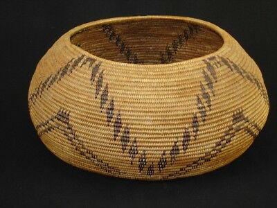 A large, well-woven Pomo degikup basket, Native American Indian, Circa: 1900
