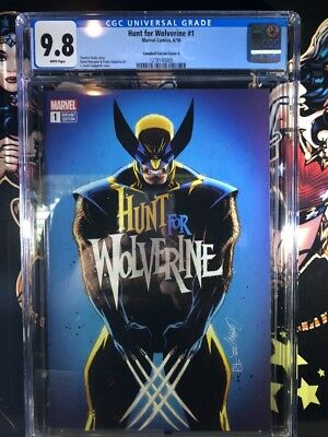 Hunt For Wolverine #1 - J Scott Campbell Variant - Cgc 9.8 - Blue Cover A