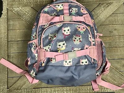 Pottery Barn Kids Large Backpack Cats Kitty