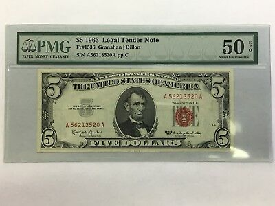 1963 Five Dollar Note