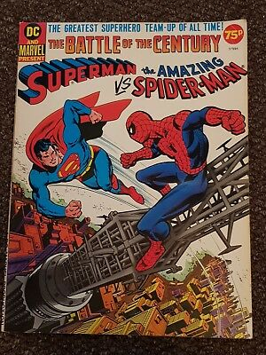 Superman vs The Amazing Spider-Man Marvel DC Crossover 1976 RARE Good Condition