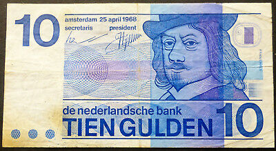 Netherlands 10 Gulden - 1968 - banknotes -  shipping in the day