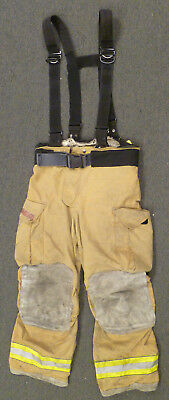 38x30 Pants Suspenders Firefighter Turnout Bunker Fire Gear Globe Gxtreme P845