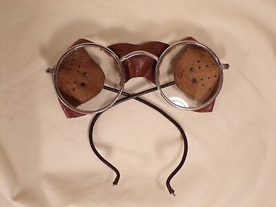 Vintage Steampunk Auto Glasses Goggles Antique Driving Motorcycle Aviator Safety