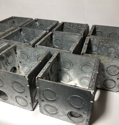 Lot of 11 Galv Electrical Boxes 22.0 CU IN