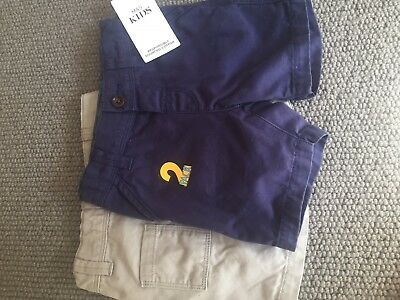 Marks And Spencer's Boys Chino Shorts X 2 Age 12-18 Months