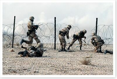 325th AIR 82nd Airborne Division Live Fire Exercise Desert Shield 8x12 Photo