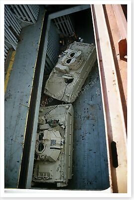M-2A2 Bradley Fighting Vehicles In Cargo Hold Desert Shield 8x12 Photo