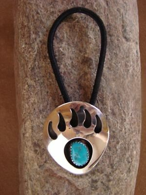 Native American Jewelry Turquoise Bear Paw Hair Tie! Navajo Indian