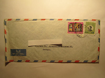 Brief Ganzsache Air Mail Stamps Briefmarken Jordan Amman nach Deutschland