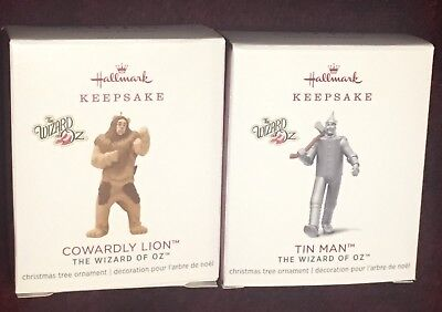 COWARDLY LION & TIN MAN Hallmark 2018 KOC Ornament Premiere LIMITED EDITION