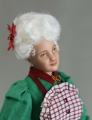 Miniature Dollhouse Doll in 1:12 Scale-Mrs. Claus/Christmas