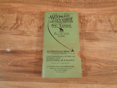 ANTIQUE 1931 St Louis City Guide & Street Directory with City Map