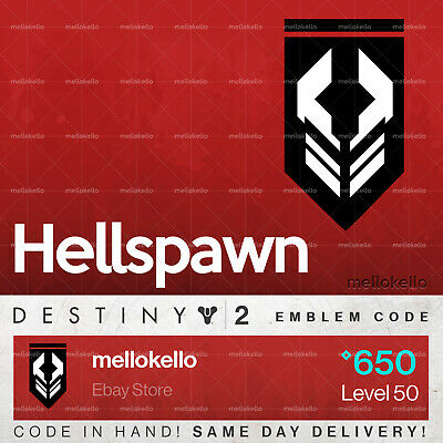 Destiny 2 Hellspawn emblem IN HAND!! SAME DAY DELIVERY!!!