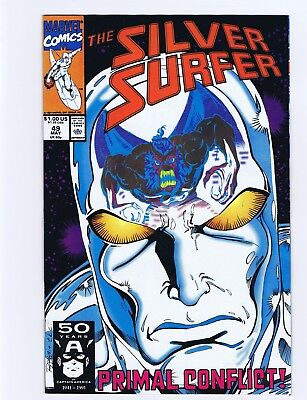 Silver Surfer #48,49 Thanos Issues Ron Lim 1991 Marvel Comics Nm