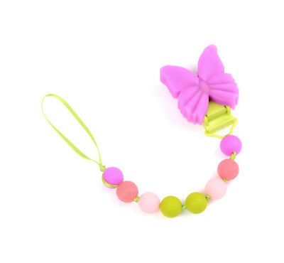 Butterfly Pacifier Clip, CHEWBEADS,