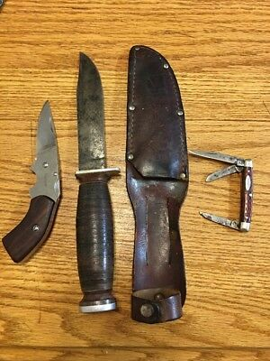 VINTAGE LOT OF KNIVES Kershaw,case xx,schrade Walden.