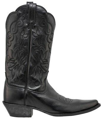 Ariat Womens Leather Heritage J-Toe Cowboy Western Boots Black Eu 39 Us 8.5B
