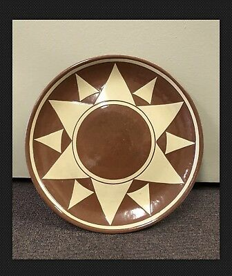 """Old Sioux Pine Ridge Pottery Plate 32"""" Artist Signed"""