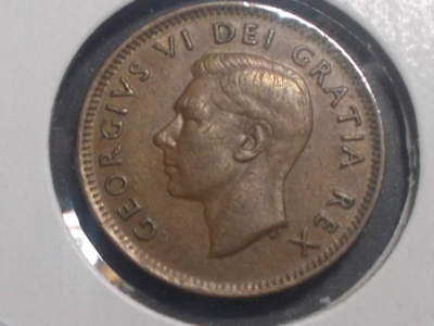 1942 Canada George Vi One Cent Coin