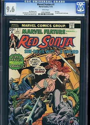 Marvel Feature 1 From 1975 1st Appearance Red Sonja CGC 9.6 Mint