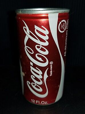 Late 1960's Classic Coca Cola all aluminum can - opened
