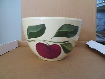 Watt Apple 7 1/2 inch Advertising Bowl Fossil Oregon