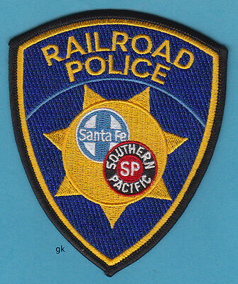 Southern Pacific Santa Fe Railroad Police Shoulder Patch