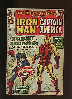 Tales of Suspense 59 VG 3.5 * 1 Book Lot * 1st Jarvis! Iron Man! Avengers!