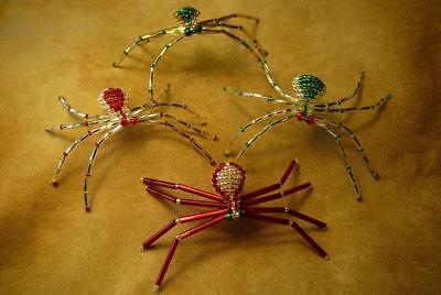 Four Colorful Beaded Spiders & Stories