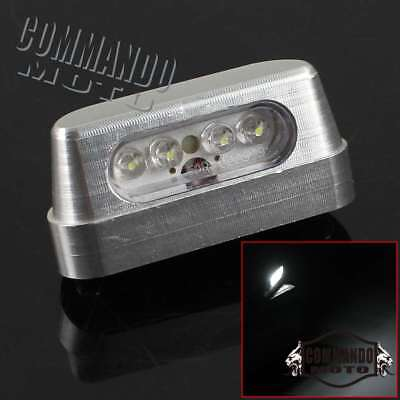 LED E-marked Motorcycle Scooter Rear Number License Plate Light Lamp Universal