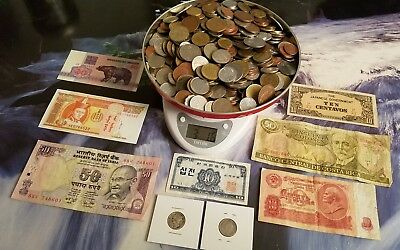 Large Junk Drawer Lot! World Coins & Banknotes - Some Silver -  Free Shipping!!!