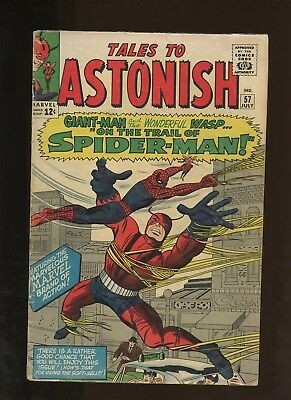 Tales to Astonish 57 GD+ 2.5 * 1 Book Lot * Giant-Man! Wasp! Spider-Man!