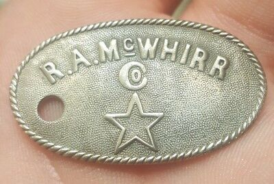 Scarce Early 1900S Fall River Massachusetts R.a. Mcwhirr Store Charge Coin Medal